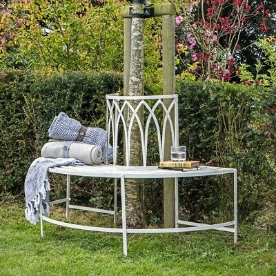 Frank Hudson Gallery Direct Alberoni Garden Outdoor Tree Bench Seat Gatehouse
