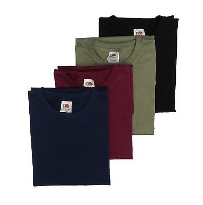 4 pack Fruit of the Loom men's Coloured t shirts, Great Value Multi-pack
