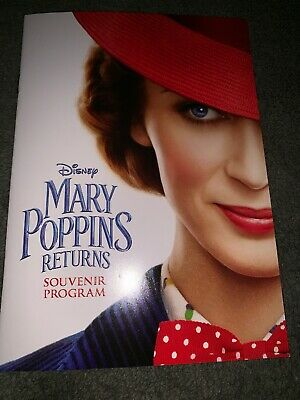 Disney Mary Poppins Returns 20-page Souvenir Program Beautifully Presented