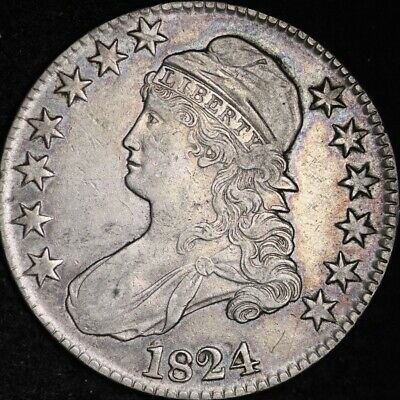 1824 Capped Bust Half Dollar CHOICE XF FREE SHIPPING E223 JFT