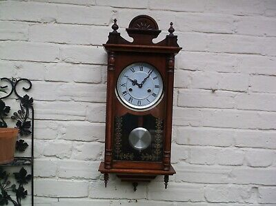 A Nice Wall Clock  Mechanical Operated With Gong