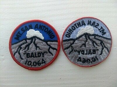 Mt San Antonio Baldy Mountain Climbers  Backpacker Patch Angeles National Park