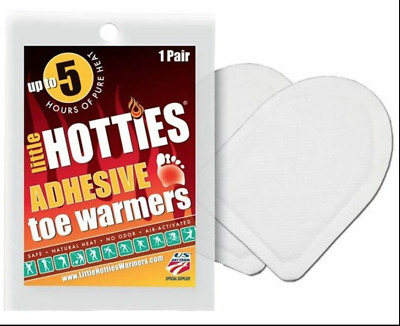 10 Pairs of Little Hotties Adhesive Toe Foot Warmers 5 Hours Heat Exp 07-24 NEW