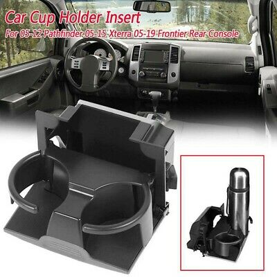 Cup Holder Insert Rear Console Fit Pathfinder 05-12 Xterra 05-15 Frontier 05-19