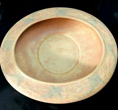 Roseville American Art Pottery Vintage Art Deco Cremona Shallow Oval Bowl
