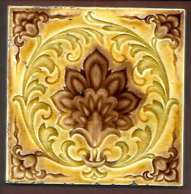 Antique Moulded Floral Stylised Acanthus Tile