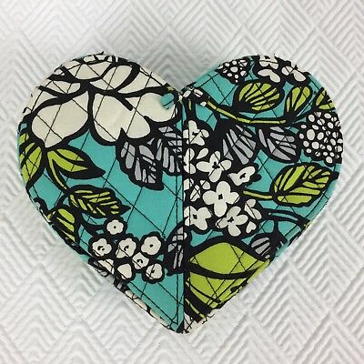 Vera Bradley From the Heart in Island Blooms Jewelry Box Case Organizer Teal