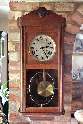 Antique German 8-Day Striking Wall, early 20th Century