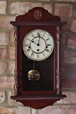 Vintage 'William Widdop' 8-Day Wall Clock with Westminster Chimes & Paperwork