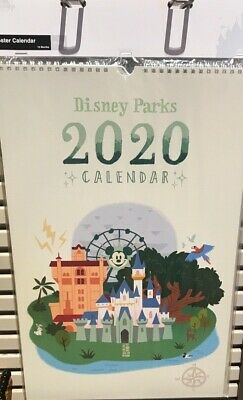 Walt Disney World Disneyland Park Lands Map 2020 Art Poster Calendar - New