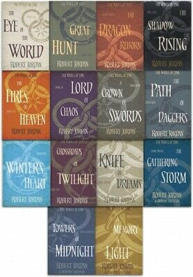 Robert Jordan The Wheel of Time Series Collection 14 Books Set Pack (Book 1-14)