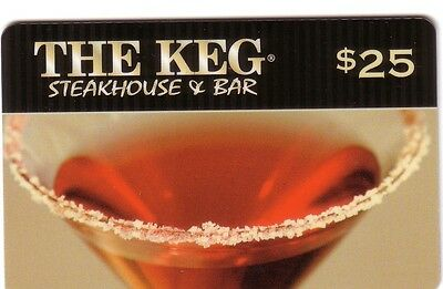 The Keg Steak House Red Wine Bilingual Collectible Gift Card No Balance ---0---