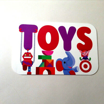 Target Gift Card Toys Unscratched Rechargeable Collectible --0--Balance