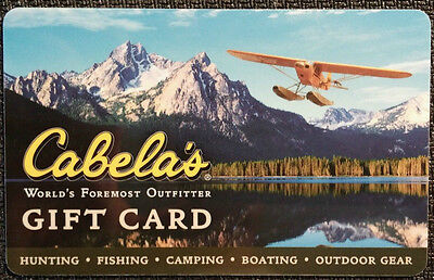 CABELA'S collectible MINT GIFT CARD NO VALUE limited edition !