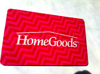 HOMEGOODS Gift Card New No Value---0---BALANCE RECHARGEABLE