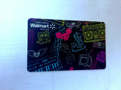 WALMART MINT GIFT CARD CANADA BILINGUAL NO VALUE! fd-49898
