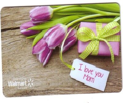 Walmart MOTHER'S DAY COLLECTIBLE Gift Card PURPLE FLOWER RECHARGEABLE No Value