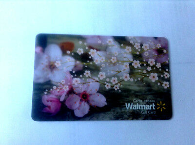 Spring Flowers 2018 Mint Gift Card Walmart Canada Bilingual No Cash Value !