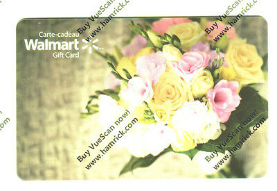 "WALMART Limited Ed Gift Card ""spring flower"" 2014 New No Value BILINGUAL FD51561"