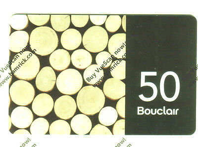 BOUCLAIR 2017 COLLECTIBLE Gift Card New No Value BILINGUAL RECHARGEABLE !