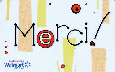 Walmart Gift Card Merci Limited Ed COLLECTIBLE New No Value