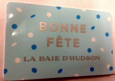 LA BAIE D'HUDSON UNSCRATCHED Collectible Gift Card French rechargeable
