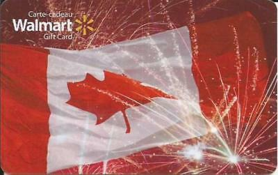 CANADA DAY 2017 MINT GIFT CARD WALMART CANADA BILINGUAL NO CASH VALUE Mint