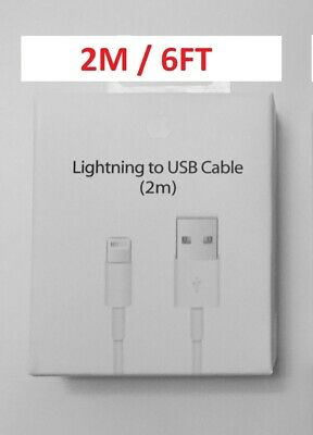 Pack of 10 OR 20 Genuine OEM  iPhone X 8 7 6S plus USB Cable Charger 6FT(2M