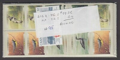 Canada Mint Nh Postage Lot $100.00 Face For $70.00 See List #95