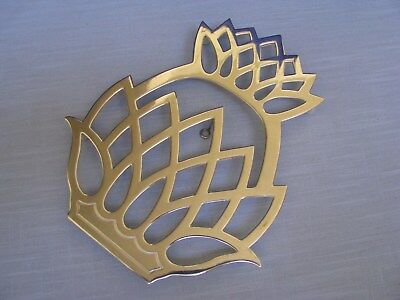 Leonard Italy Silverplate Pineapple Trivet Footed Hot Plate w Wall Hanging Hook