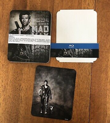 MEL GIBSON MAD MAX TRILOGY STEELBOOK PROOF CASE No Blu-Rays discs included READ
