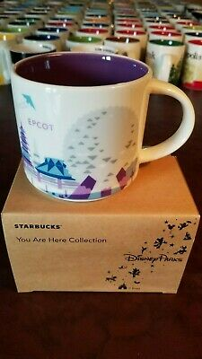 rare mugs Starbucks Disney EPCOT v1 Purple Monorail You Are Here YAH 14 oz w/SKU