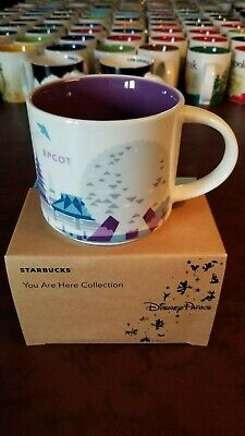 rare mugs Starbucks Disney EPCOT v2 Silver Monorail You Are Here YAH 14 oz w/SKU