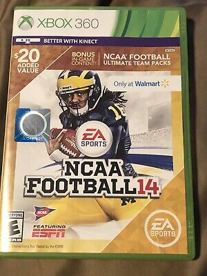 NCAA FOOTBALL 14 (Xbox 360) - Super Rare Walmart Edition
