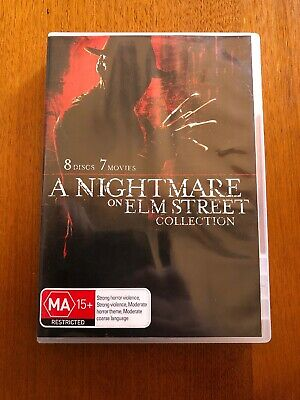 A Nightmare On Elm Street Collection (MA) DVD 8 Discs 7 Movies Pal Oz Seller