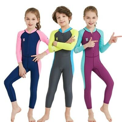 Baby Kids One-piece Diving Suit Long Sleeve Snorkeling Surfing Wetsuit Swimsuit