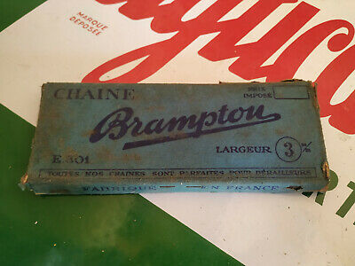 N.O.S chaine velo BRAMPTON 116 Maillons 12,7 X 3 old french vintage bike chain