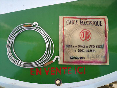 N.O.S cable electrique 1.20 metre VELO MOBYLETTE optique phare dynamo