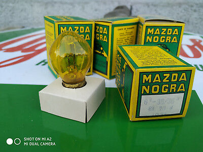 N.O.S ampoule lampe MAZDA 6V 36/36W MOTO VOITURE ANCIENNE COLLECTION