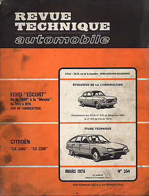 RTA revue technique automobile N° 354 CITROEN CX  2000 2200