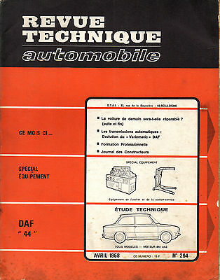 RTA revue technique automobile n° 264 DAF 44 1968