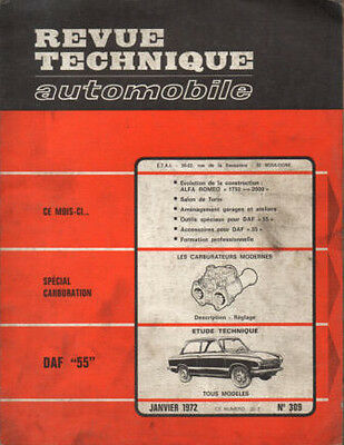 RTA revue technique automobile n° 309 DAF 55 1972