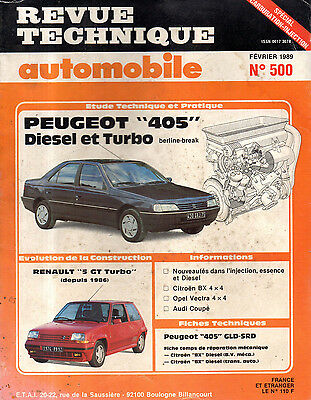 RTA revue technique automobile N° 500 PEUGEOT 405 DIESEL & TURBO