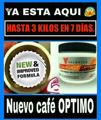 Cafe Valentus Optimum Slimroast Dark Coffee Perdida Peso Plan 35 Días