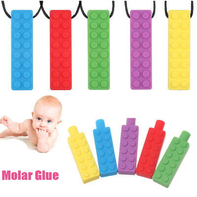 Chewing Brick  Pendant  Pencil Topper Teether Toy Sensory Necklace Molar Glue