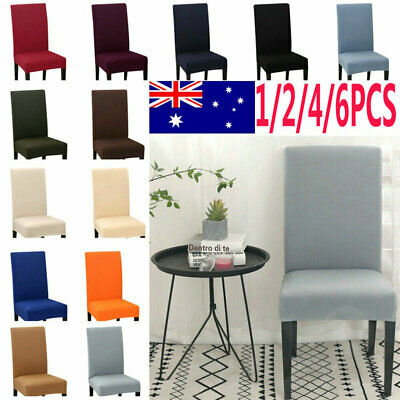4/6PCS Dining Chair Covers Spandex Slip Cover Stretch Wedding Banquet Party