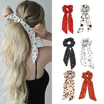 Boho Print Ponytail Scarf Bow Elastic Hair Rope Tie Scrunchies Ribbon Bands Best