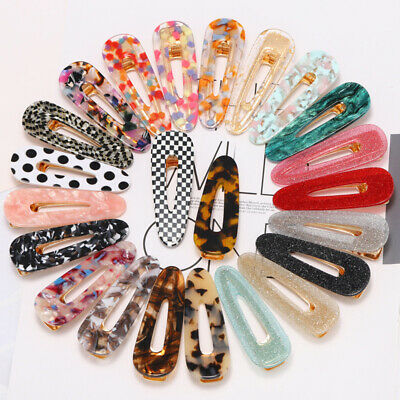 Fashion Dot Leopard Girls Women Hairpin Barrette Headwear Colorful Hair Clip 1PC