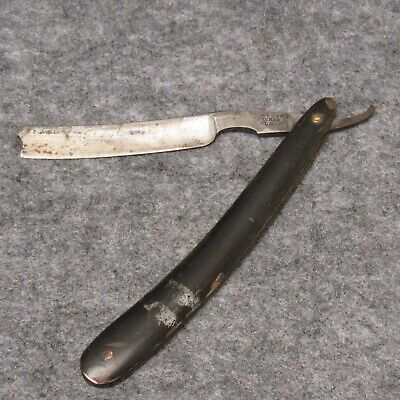 "Wade & Butcher Sheffield 6-3/8"" Straight Razor Horn Handles Narrow Blade Antique"