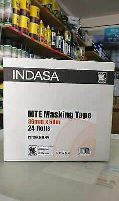 INDASA Low Bake Masking Tape 36mm x 50m 24 rolls